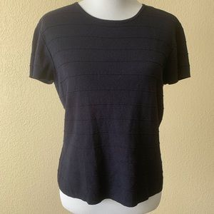 Talbots Black Blouse